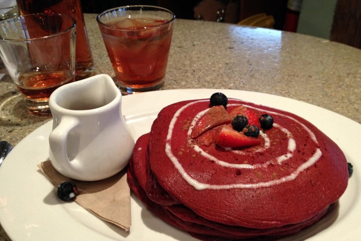 who doesn't love red velvet pancakes for brunch?