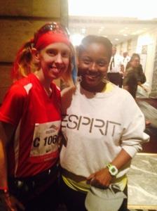 My friend Karen who got a BQ on her first marathon attempt. She rocks!